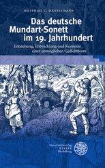 Das deutsche Mundart-Sonett im 19. Jahrhundert