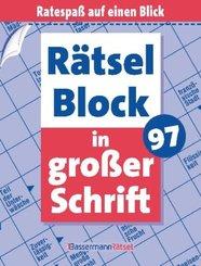 Rätselblock in großer Schrift - Bd.97