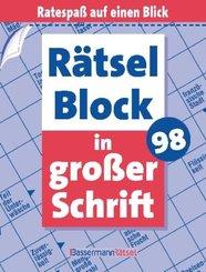 Rätselblock in großer Schrift - Bd.98