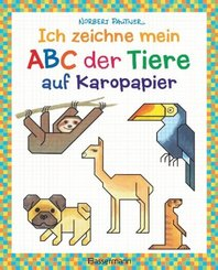 Ich zeichne mein ABC der Tiere auf Karopapier. Einfach zeichnen und Buchstaben lernen. Eine ungewöhnliche Zeichenschule