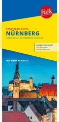 Falk Stadtplan Extra Standardfaltung Nürnberg  1:20 000