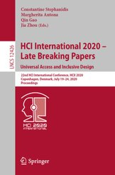 HCI International 2020 - Late Breaking Papers: Universal Access and Inclusive Design