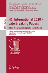 HCI International 2020 - Late Breaking Papers: Interaction, Knowledge  and Social Media
