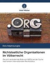 Nichtstaatliche Organisationen im Völkerrecht