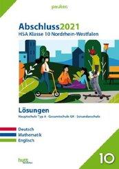 Abschluss 2021 - Hauptschulabschluss Klasse 10 Nordrhein-Westfalen Lösungen