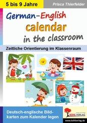 German-English calendar in the classroom