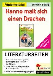 Hanno malt sich einen Drachen - Literaturseiten / Inklusionsmaterial