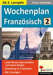 Wochenplan Französisch / ab 2. Lernjahr