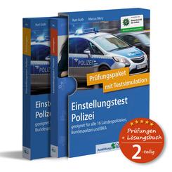 Einstellungstest Polizei: Prüfungspaket mit Testsimulation, 2 Teile