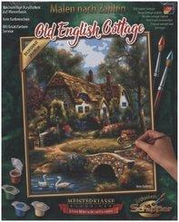 Meisterklasse Klassiker, Malen nach Zahlen (Mal-Sets), Bildgröße: 24 x 30 cm: Old English Cottage