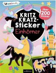 Kritzkratz-Sticker Einhörner