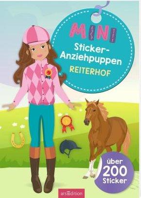 Mini-Sticker-Anziehpuppen Reiterhof
