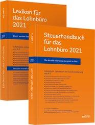 Buchpaket Lexikon für das Lohnbüro und Steuerhandbuch 2021, m. 1 Buch, m. 1 Buch