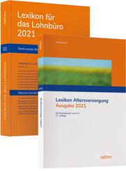 Buchpaket Lexikon für das Lohnbüro und Lexikon Altersversorgung 2021, m. 1 Buch, m. 1 Buch