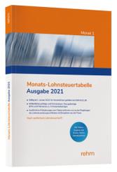 Monats-Lohnsteuertabelle 2021