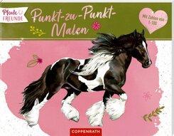 Pferdefreunde: Punkt-zu-Punkt-Malen