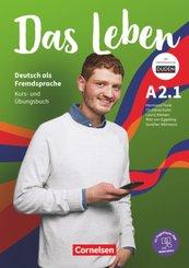 Das Leben - Deutsch als Fremdsprache - Allgemeine Ausgabe - A2: Teilband 1 Kurs- und Übungsbuch - Mit PagePlayer-App ink - Bd.1