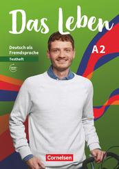 Das Leben - Deutsch als Fremdsprache - Allgemeine Ausgabe - A2: Gesamtband Testheft mit Audios online