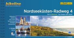Nordseeküsten-Radweg. 1:75000: Nordseeküsten-Radweg, Dänemark - Von Tønder nach Grenâ