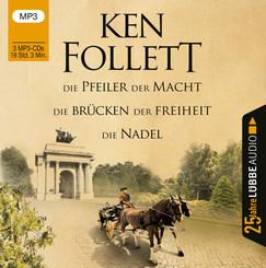 Die Pfeiler der Macht / Die Brücken der Freiheit / Die Nadel, 3 MP3-CD