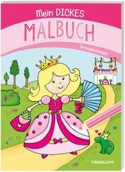 Mein dickes Malbuch. Prinzessinnen