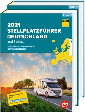 ADAC Stellplatzführer 2021 Deutschland und Europa, 2 Bände
