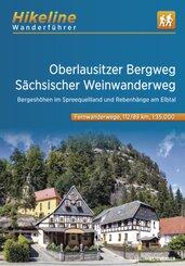 Wanderführer Oberlausitzer Bergweg - Sächsischer Weinwanderweg