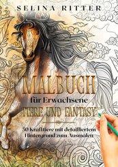 Malbuch für Erwachsene - Tiere und Fantasy