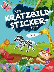 Mein Kratzbild-Stickerbuch - Tiere
