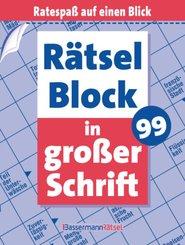 Rätselblock in großer Schrift - Bd.99