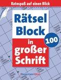 Rätselblock in großer Schrift - Bd.100