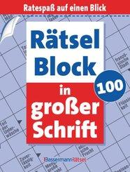 Rätselblock in großer Schrift - .100