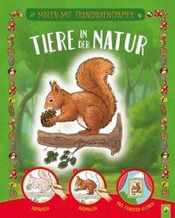 Malen mit Transparentpapier:  Tiere in der Natur