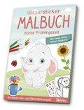 Glitzersticker-Malbuch - Bunte Frühlingszeit
