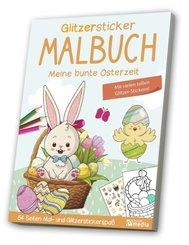 Glitzersticker-Malbuch - Meine bunte Osterzeit