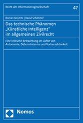 """Das technische Phänomen """"Künstliche Intelligenz"""" im allgemeinen Zivilrecht"""