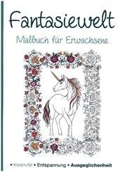 Malbuch für Erwachsene - Fantasiewelt