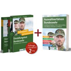Einstellungstest Bundeswehr: Prüfungspaket mit Testsimulation, 2 Bde. + Auswahlverfahren Bundeswehr