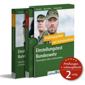 Einstellungstest Bundeswehr: Prüfungspaket mit Testsimulation, 2 Bde.