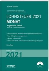 Tabelle, Lohnsteuer 2021 Monat