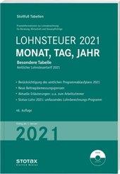 Tabelle, Lohnsteuer 2021 Monat, Tag, Jahr