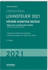 Tabelle, Lohnsteuer 2021 Höhere Sonstige Bezüge