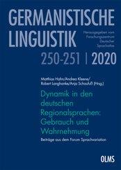Dynamik in den deutschen Regionalsprachen: Gebrauch und Wahrnehmung