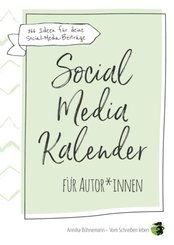 Social-Media-Kalender für Autorinnen