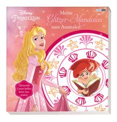 Disney Prinzessin: Meine Glitzer-Mandalas zum Ausmalen
