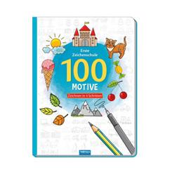 Trötsch Erste Zeichenschule 100 Motive Zeichnen in 4 Schritten Malbuch