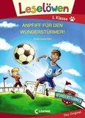 Leselöwen - Anpfiff für den Wunderstürmer!, Großbuchstabenausgabe