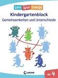 LernSpielZwerge  Kindergartenblock - Gemeinsamkeiten und Unterschiede
