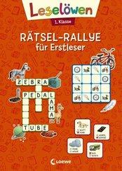 Leselöwen Rätsel-Rallye für Erstleser - 1. Klasse (orange)