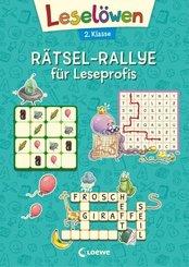 Leselöwen Rätsel-Rallye für Leseprofis (türkis)